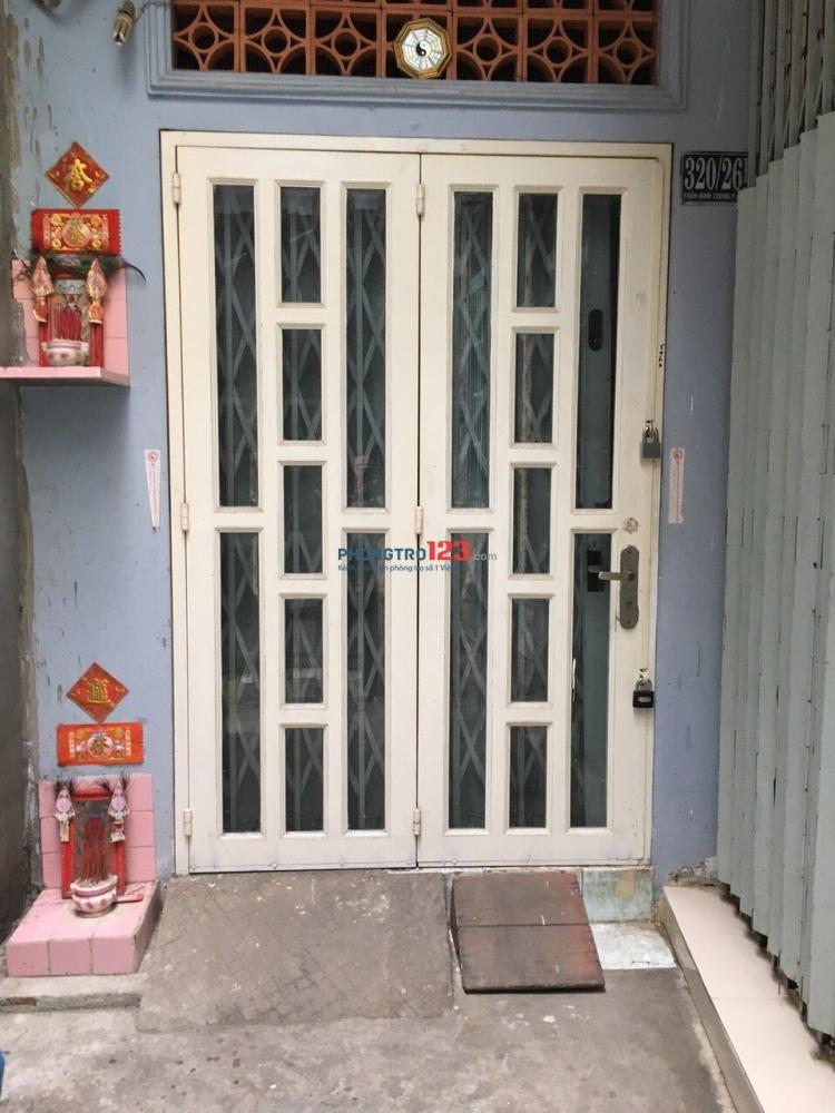 Chính chủ Cho thuê nhà nguyên căn 320/26B Trần Bình Trọng, P4, Q5, HCM-giá: 5,000,000/ tháng