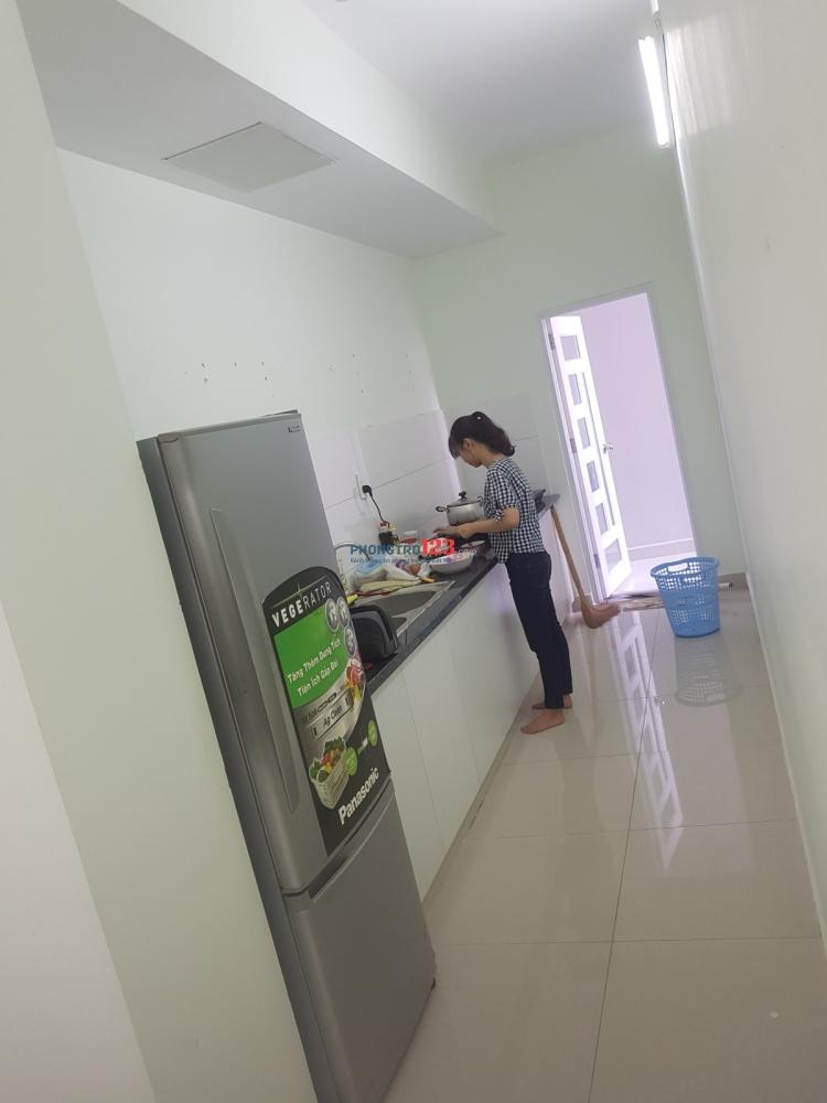 Tìm nữ ở ghép chung cư mới xây Quận 8. DT 74 m2, giá 1.8 triệu/tháng