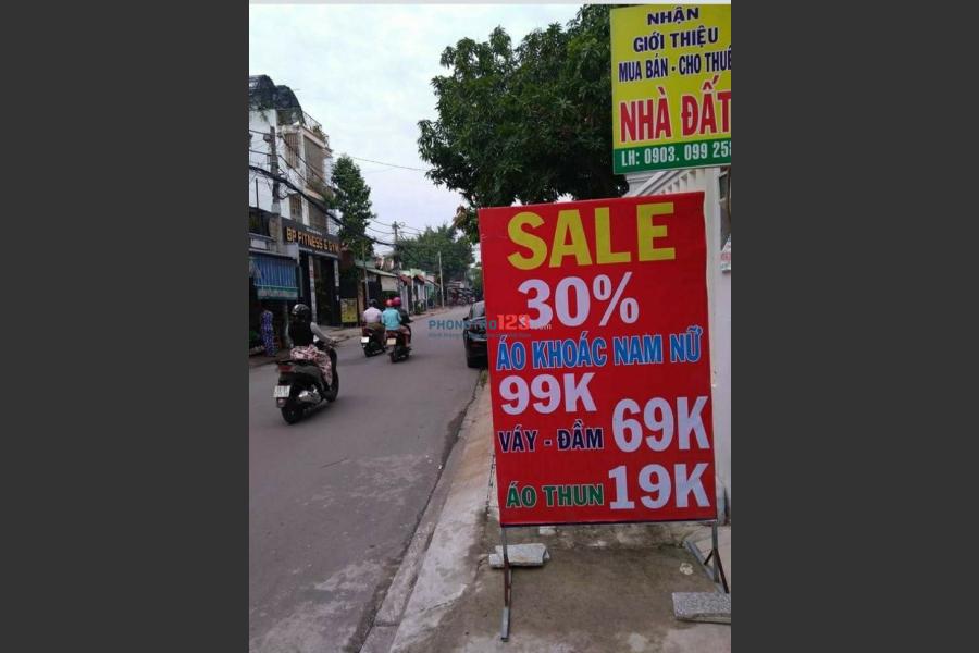 Cho thuê mặt bằng kinh doanh, đường 297 Đỗ Xuân Hợp