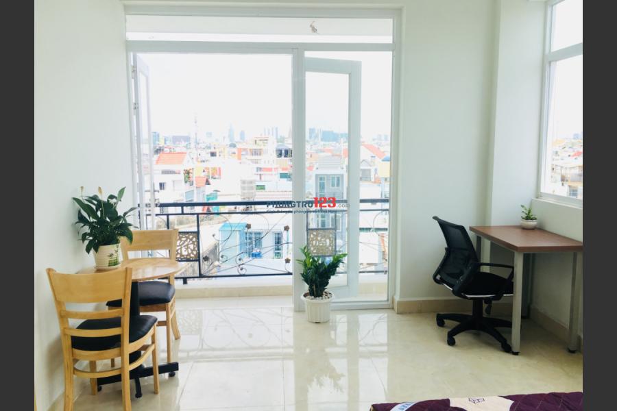 Cho thuê căn hộ dịch vụ 1 PN, full nội thất, đầy đủ tiện nghi ngay CV Lê Thị Riêng, các trường ĐH quận Tân Bình