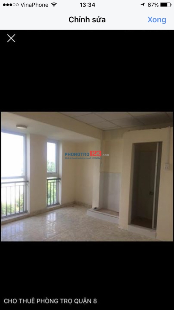 Cho thuê phòng Q.8 gần ngã 4 An Dương Vương và Võ Văn Kiệt giá 1,3 triệu