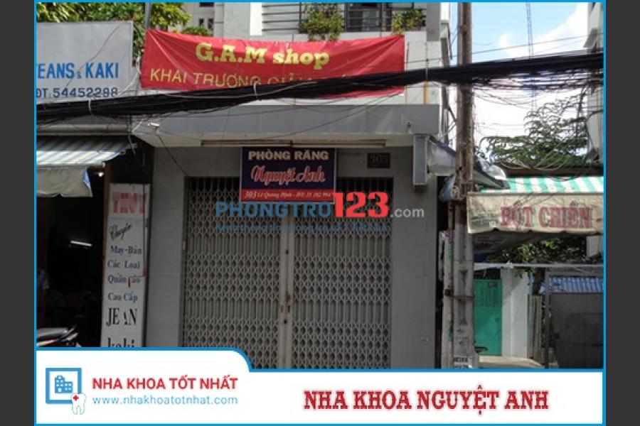 Cho thuê nhà mặt tiền đường Lê Quang Định, Q.Bình Thạnh