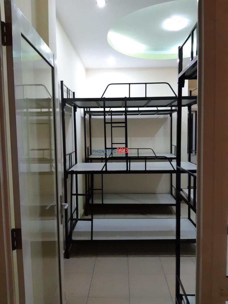 Kí túc xá giường tầng cao cấp máy lạnh giá 450k quận Bình Thạnh