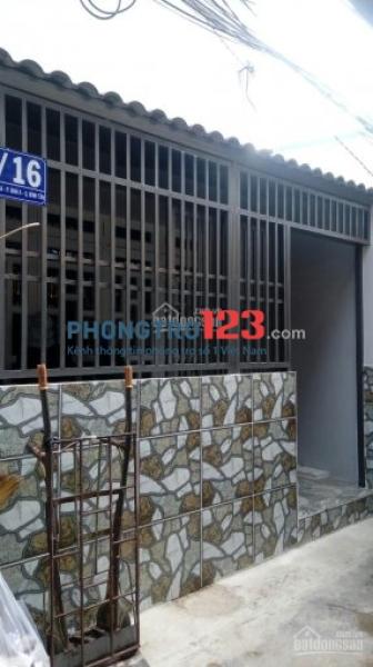 Cho thuê nhà quận Bình Tân, cách siêu thị Aeon Tân Phú 800m, 60m2 có gác lửng, 5.5 tr/tháng