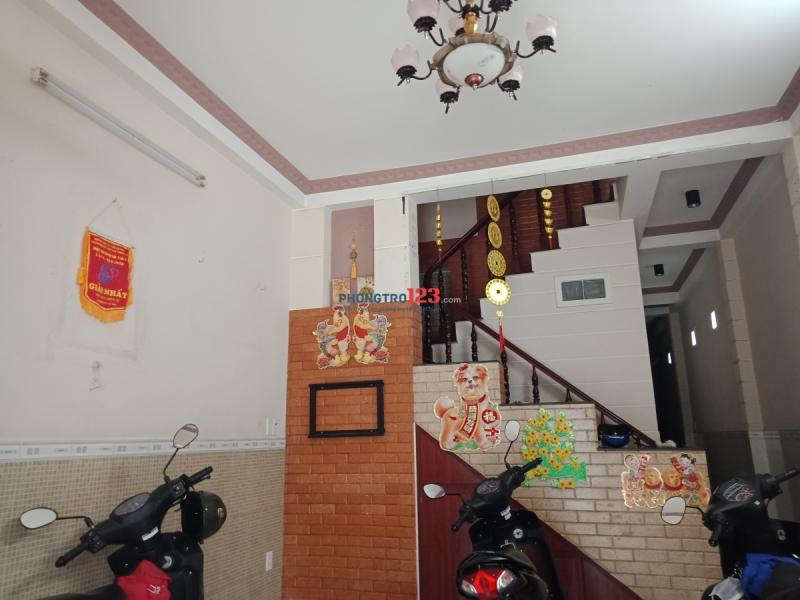 Cho Thuê Nhà Nguyên Căn Tầng Trệt (1 Phòng Khách + 1 Phòng Ngủ)