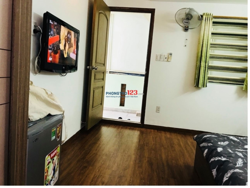 Phòng cho thuê có nội thất, giá hợp lý Phạm Viết Chánh, Q.1, ngay BV Từ Dũ