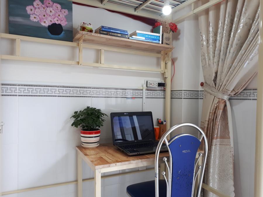 Phòng trọ đầy đủ nội thất - có ban công - 1tr6/tháng