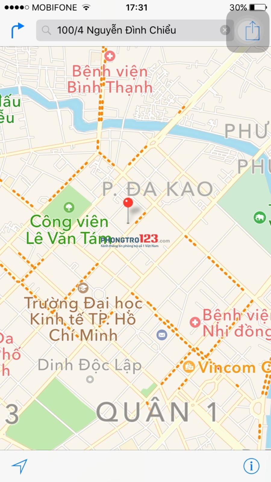 Văn phòng cho thuê rẻ xinh ngay trung tâm Quận 1, đường Nguyễn Đình Chiểu, DT 30m2, Giá 7tr