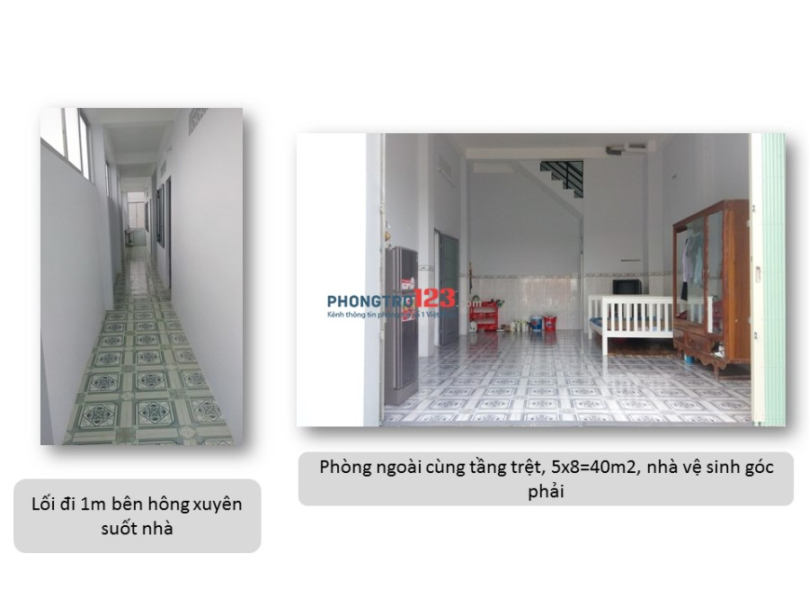Cho thuê nhà làm văn phòng/công ty Quận Tân Phú