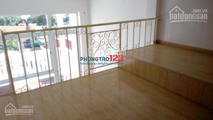 Cho thuê căn hộ mini rộng 45m2 (bao gồm gác lửng 12m2) nhà mới có thang máy