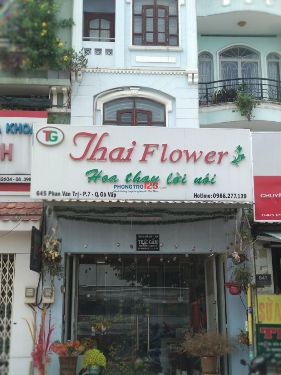 Cần 2 nữ ở ghép, nhà mặt tiền đường Phan Văn Trị