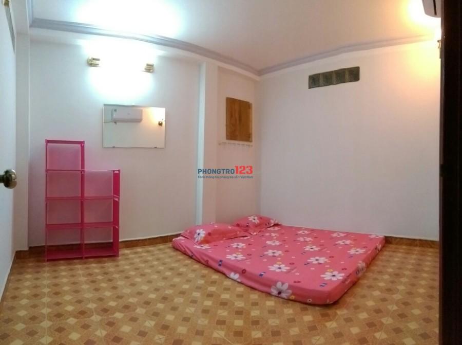 Phòng cho thuê giá rẻ, có máy lạnh, sạch sẽ và yên tĩnh khu Đầm Sen – Hòa Bình