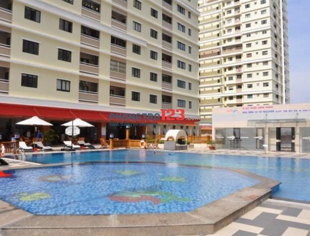Phòng 28m2 bao điện nước - căn hộ Đức Khải Era Town có hồ bơi