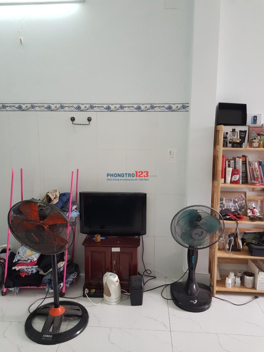 Phòng cho thuê full nội thất, có bếp quận Tân Phú