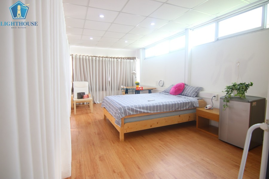 Cho thuê căn hộ full nội thất 30m3 ngay công viên Lê Thị Riêng, Q.3 (có ban công)