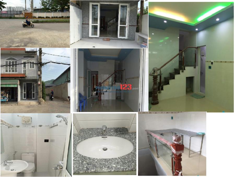 Cho thuê nhà làm văn phòng/ở 1 trệt,1 lầu mới, mặt tiền 24 đường Thới An 3, KP1, p.Thới An, Q12