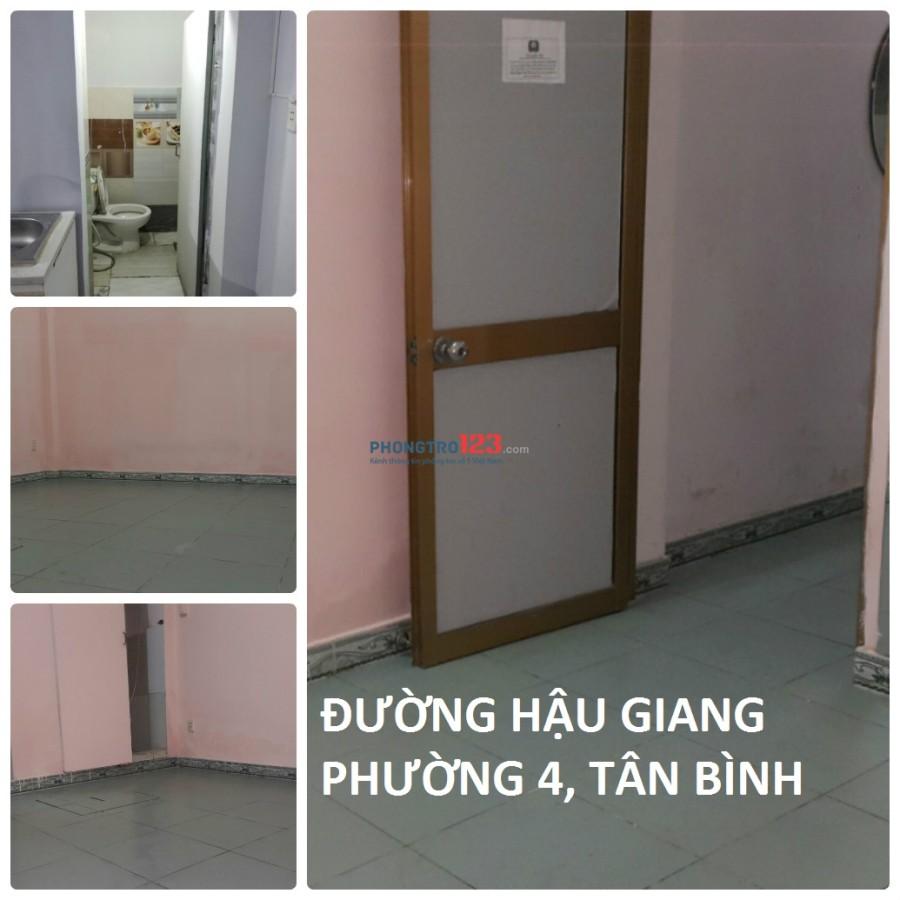Cho thuê phòng 2,3 triệu có máy lạnh đường Hậu Giang - Tân Bình