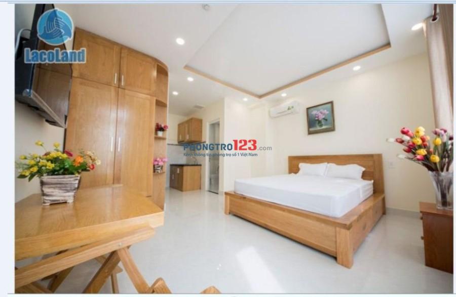 Căn hộ studio sang trọng đầy đủ nội thất gỗ cao cấp, giành cho người thu nhập cao
