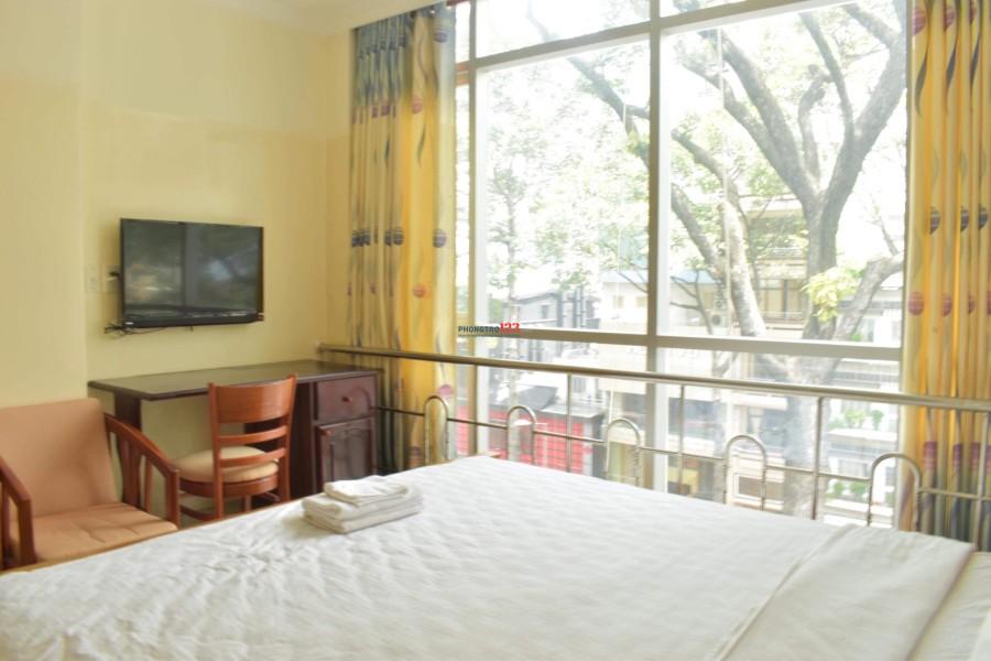 cho thuê căn hộ dịch vụ, nội thất cao cấp, 50m2, Trân Hưng Đạo Q1