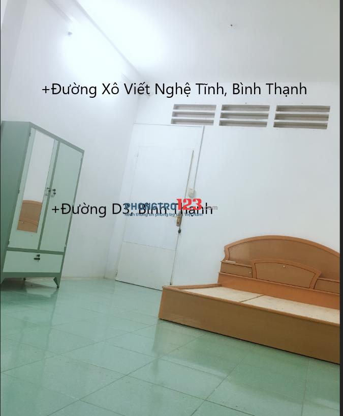 3.8tr/th phòng có giường, máy lạnh tại Bình Thạnh.