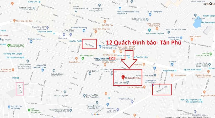 cho nữ thuê phòng trọ 2tr5 ngay Nguyễn Sơn, Tân Phú