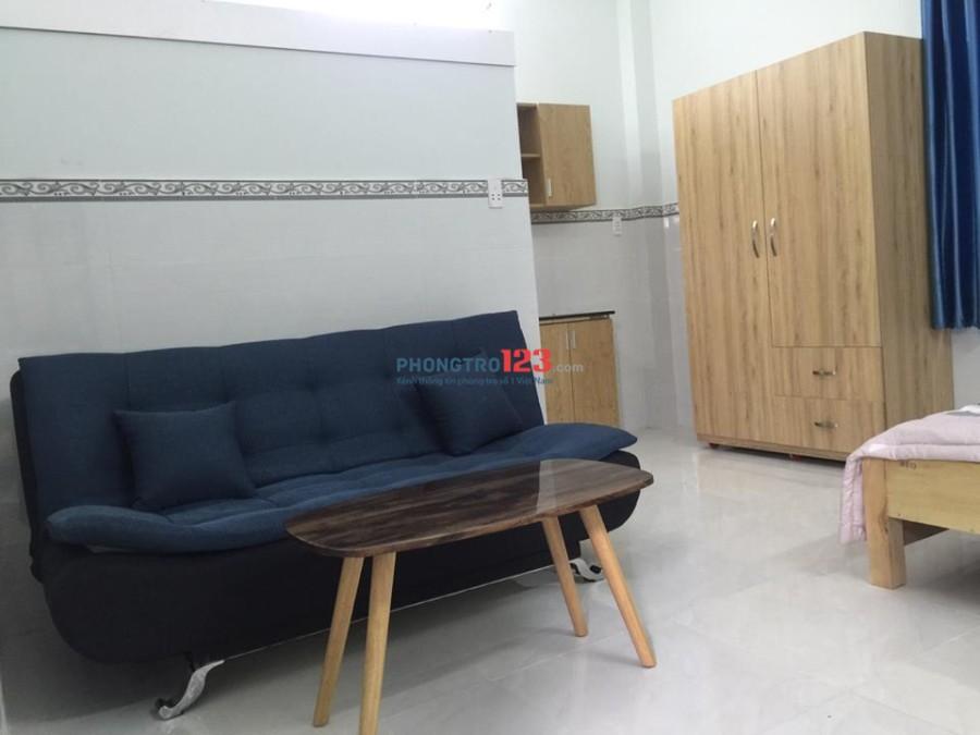 Căn hộ dịch vụ studio đủ nội thất, Quận TB new 100%