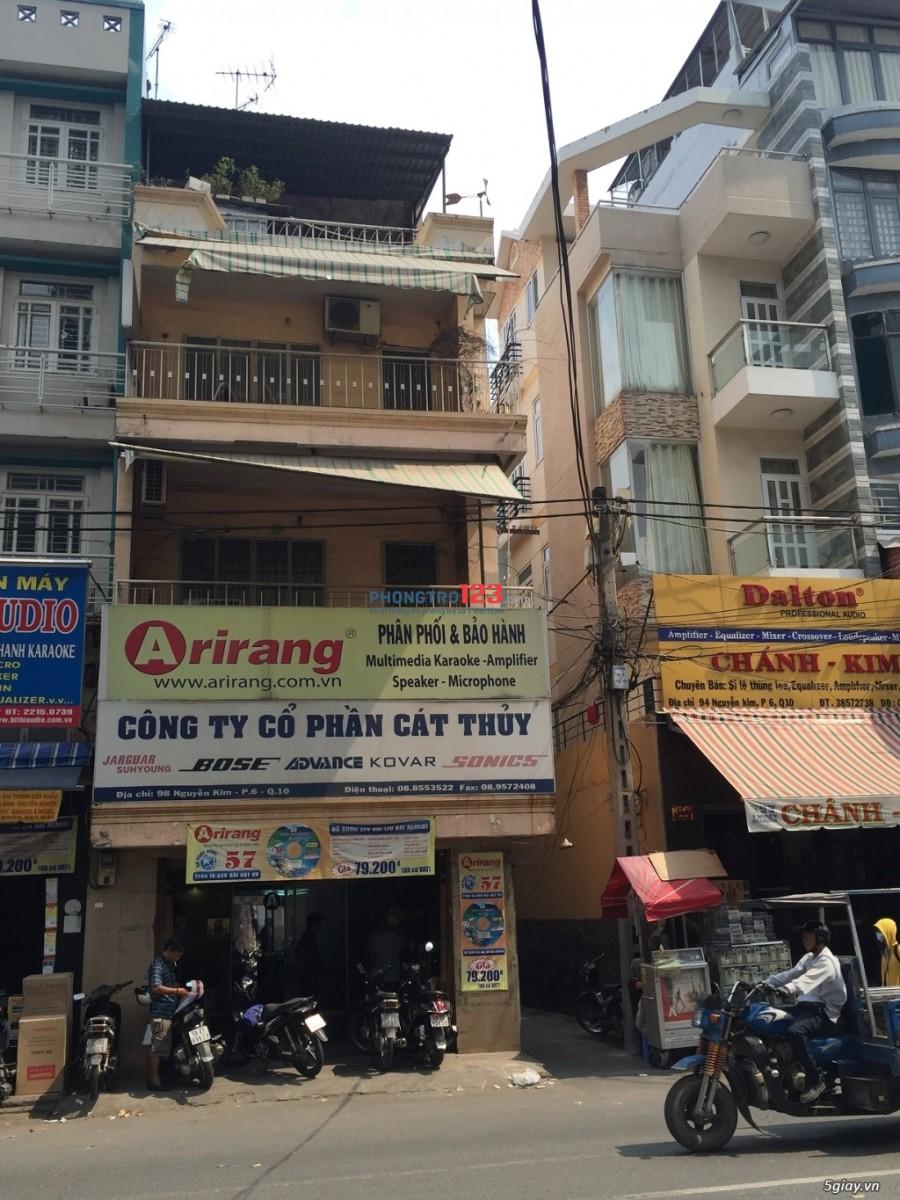 Q10- Cho thuê nhà nguyên căn mặt tiền đường Nguyễn Kim