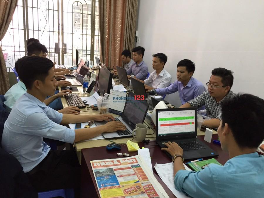 Cho thuê mặt bằng, VP cty tầng trệt nhà 47/45 Nguyễn Văn Đậu, hẻm thông 8m, P.6, Bình Thạnh