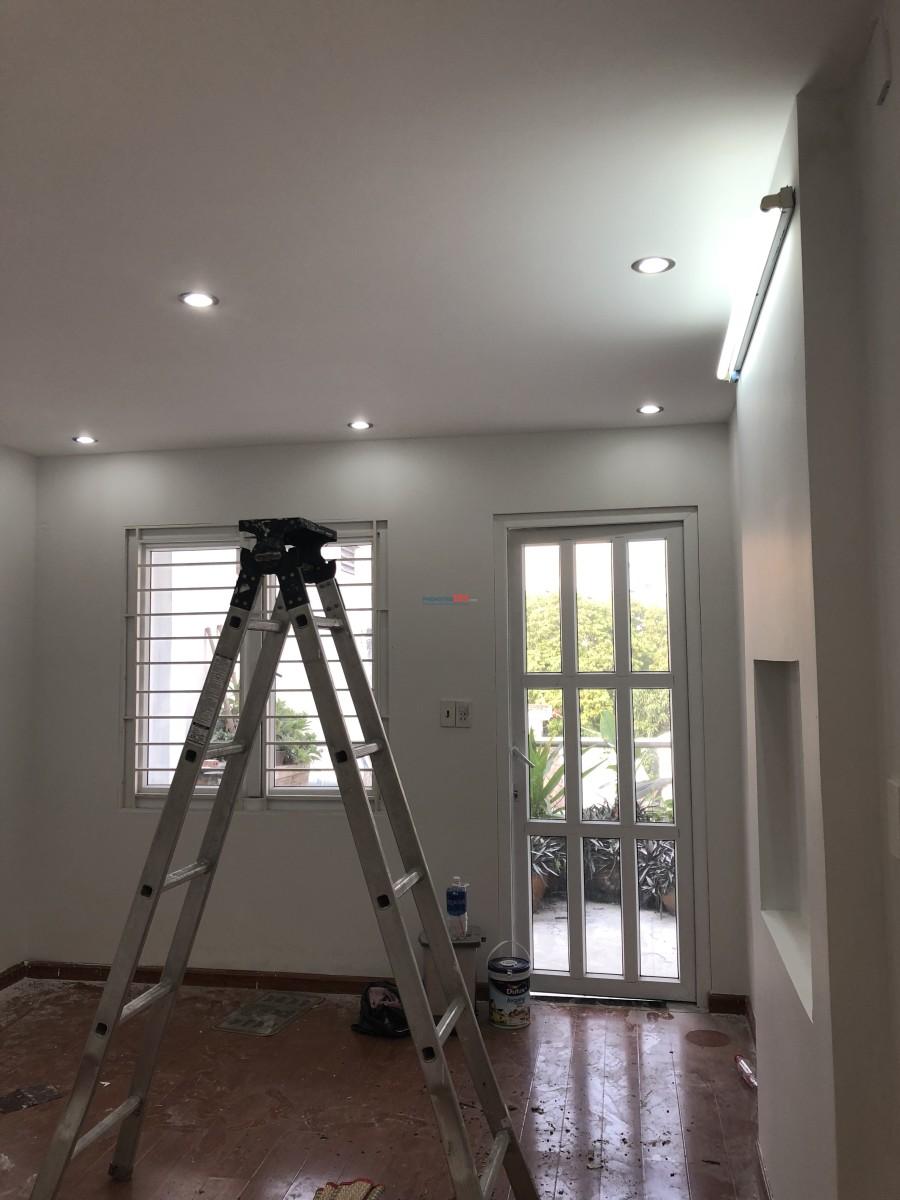 Cho thuê nhà mới 1 trệt 1 lửng 2 lầu nguyên căn