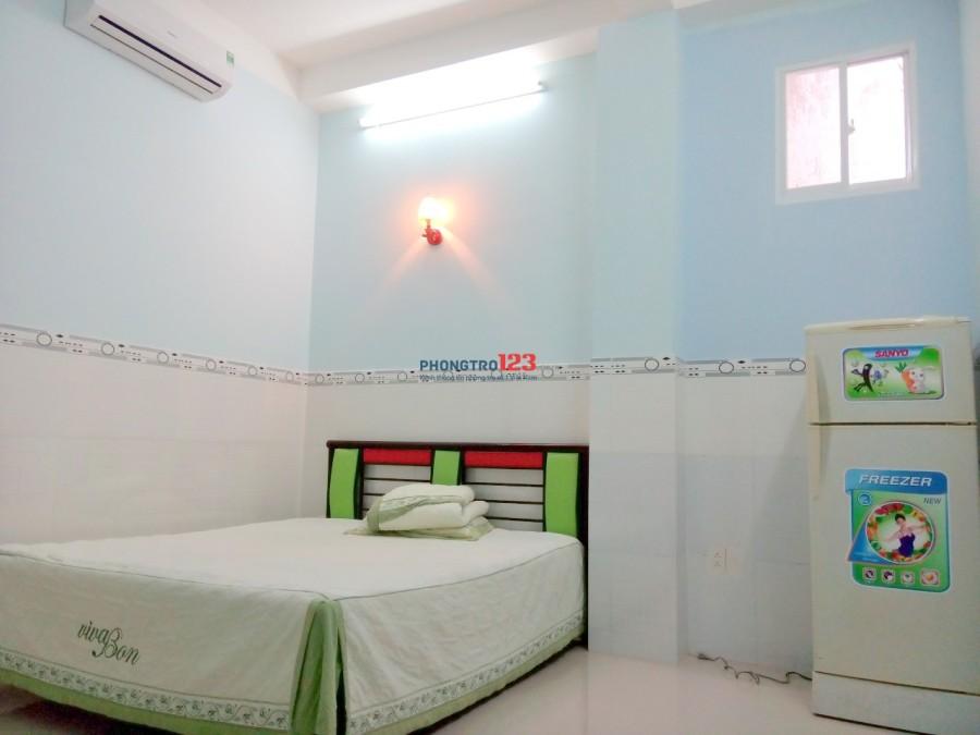 Phòng trọ máy lạnh giá rẻ đủ tiện nghi quận Tân Bình, gần đường Lý Thường Kiệt