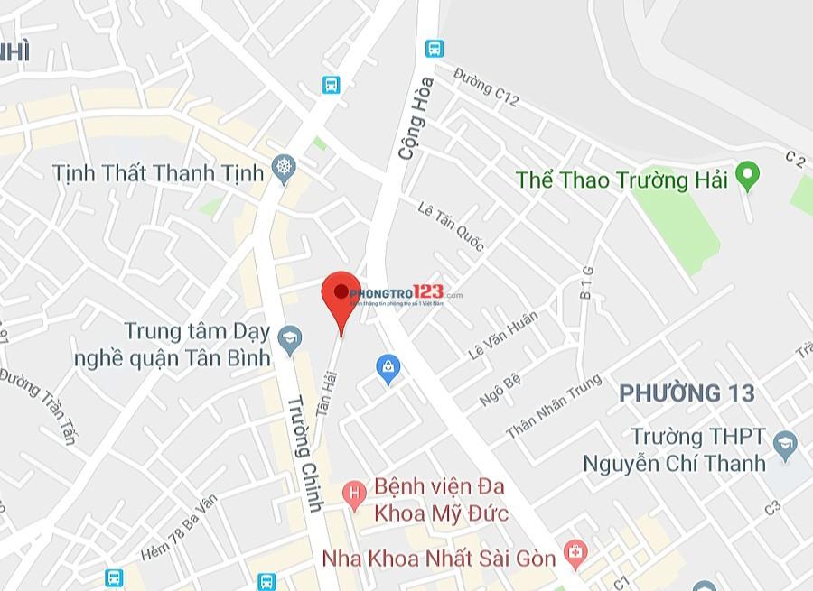 Cho thuê nhà 4x17 1 lầu, HXT 44/2 Tân Hải, Tân Bình – sát bên ETown Cộng Hoà 16.8tr
