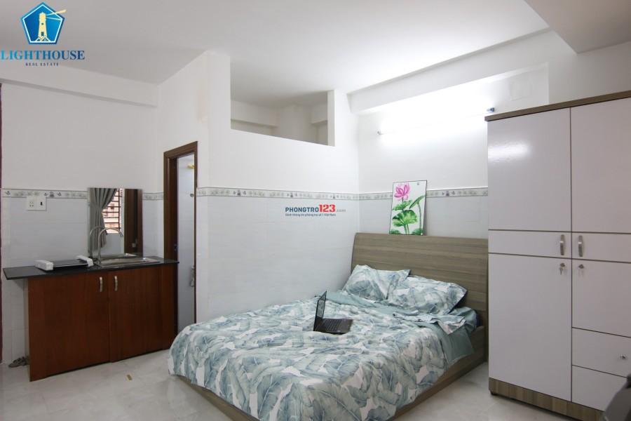 Phòng 28m2, có gác full nội thất như hình, ngay Hoàng Hoa Thám