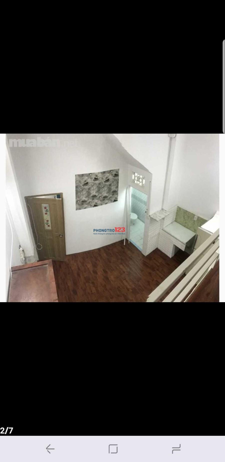 Cho thuê phòng lớn 35m2 có gác full nội thất có máy giặt free, sàn gỗ cao cấp