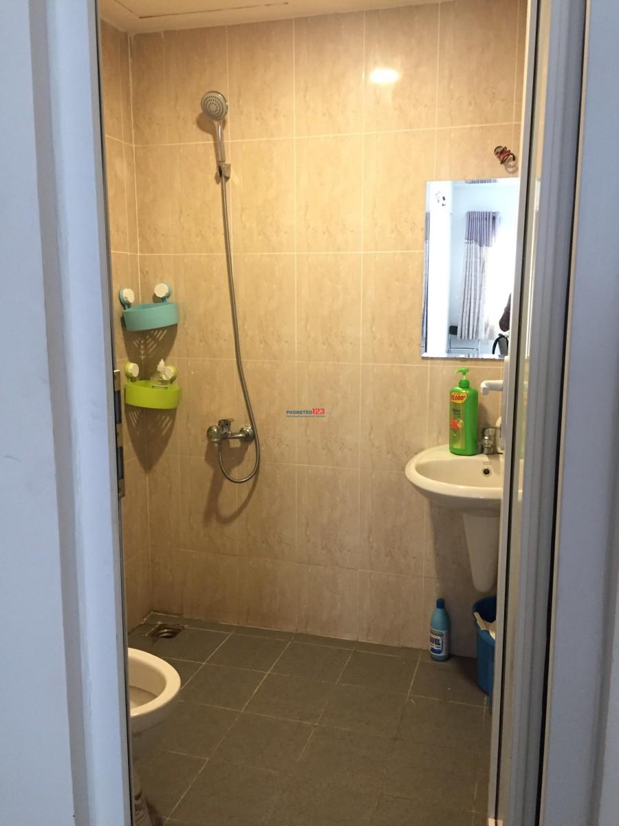 Chia lại 1 phòng ngủ+ 1 WC trong chung cư 2 pn mới bàn giao
