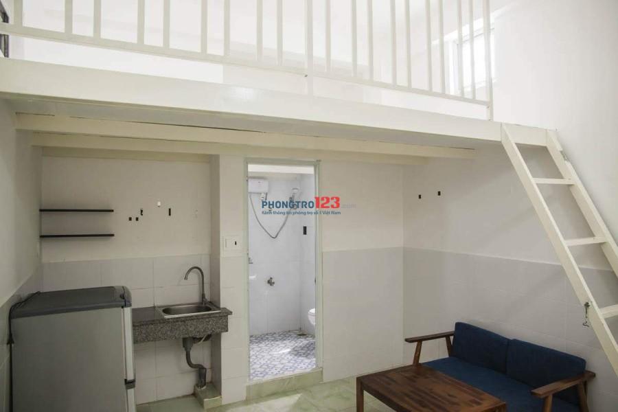 Chung cư mini cho thuê phòng có gác xếp, máy lạnh giá rẻ quận Tân Bình ngay chợ Tân Trụ, khu công nghiệp Tân Bình.
