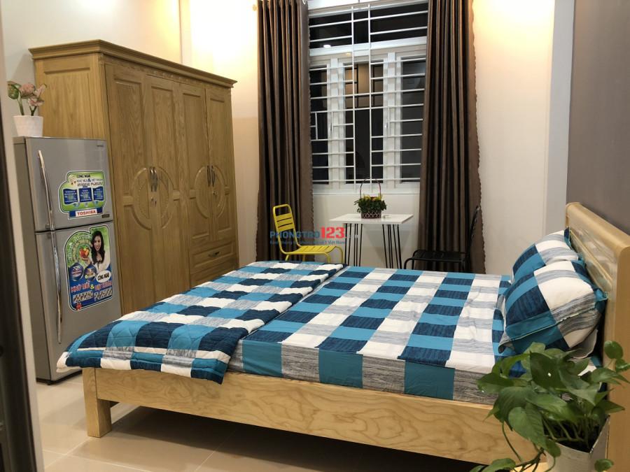 Phòng trọ cao cấp full nội thất mới xây tại Nguyễn Xí, Bình Thạnh