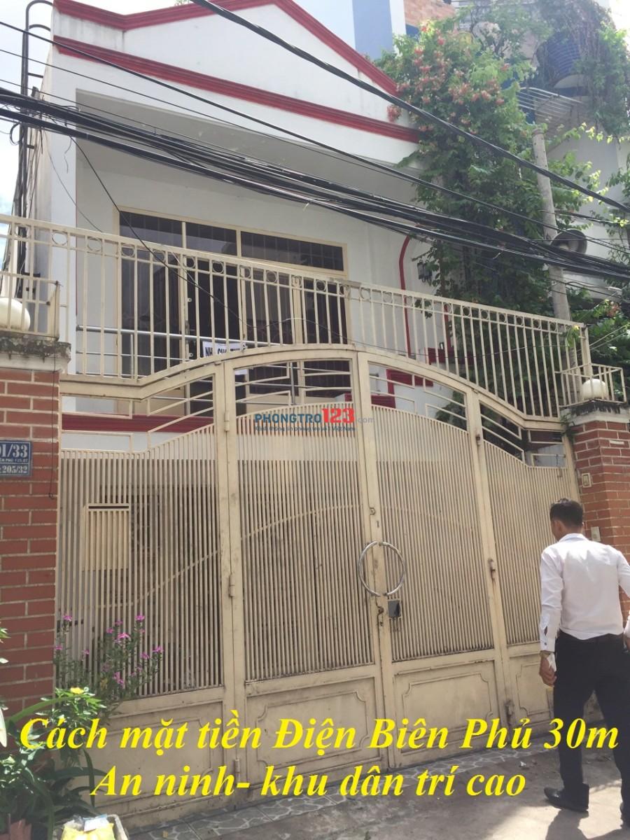 Phòng trọ Điện Biên Phủ, Bình Thạnh giá 2,5tr có sân sau riêng biệt