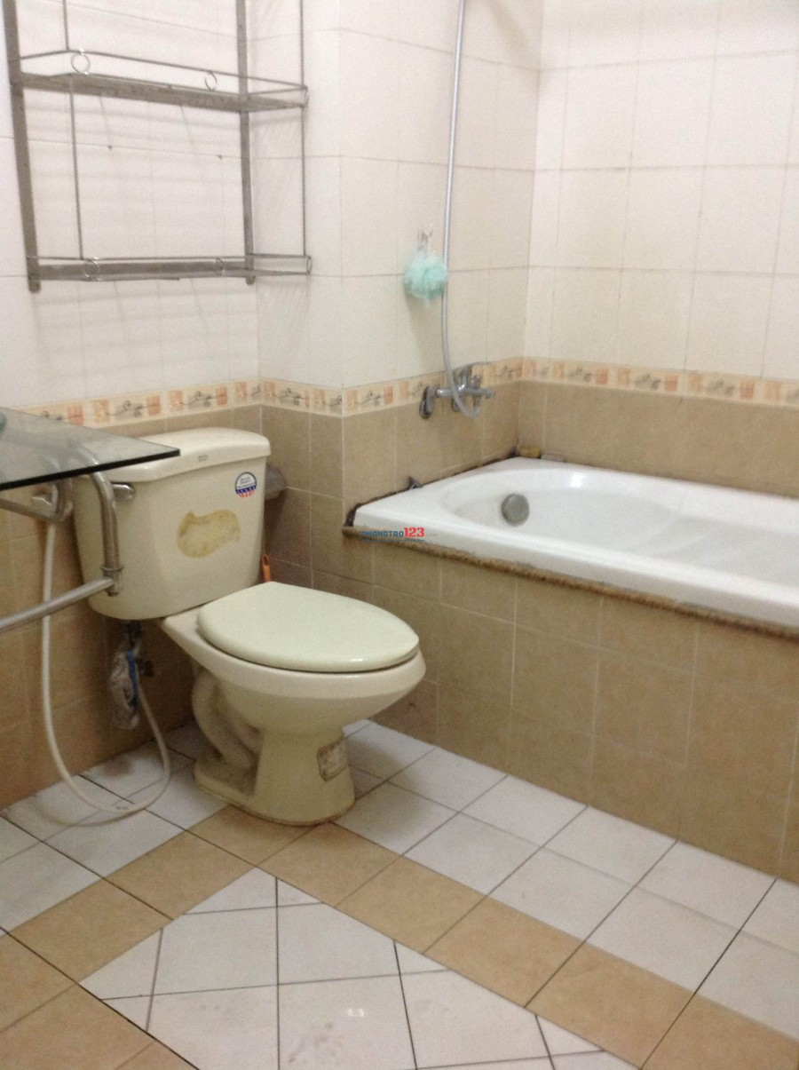 Phòng cho thuê có máy lạnh, giường, tủ trên đường Chu Văn An, gần ĐH Hutech, Ngoại thương, giá 3,5 tr/th