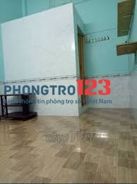Phòng trọ 18m2, không máy lạnh, đường CMT8, Q.3