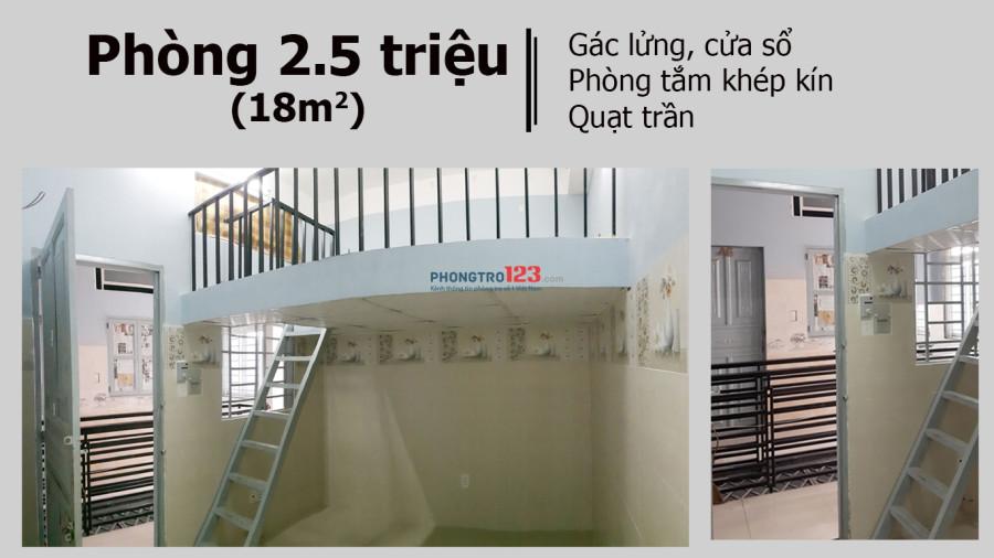 Phòng trọ Gò Vấp mới xây có gác lửng - 2.5tr hoặc 3.2tr