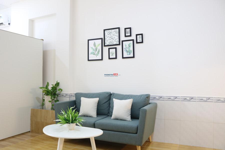 Cho thuê căn hộ mini mới xây full nội thất, 38m2 thang máy cạnh CC Bộ Công An, Quận 2
