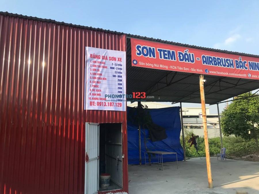 Cho thuê nhà (lán) kcn Tiên Sơn, có sân đỗ ô tô