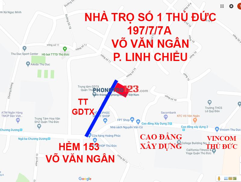 Phòng trọ 24m2 sạch đẹp Võ Văn Ngân gần Vincom Thủ Đức