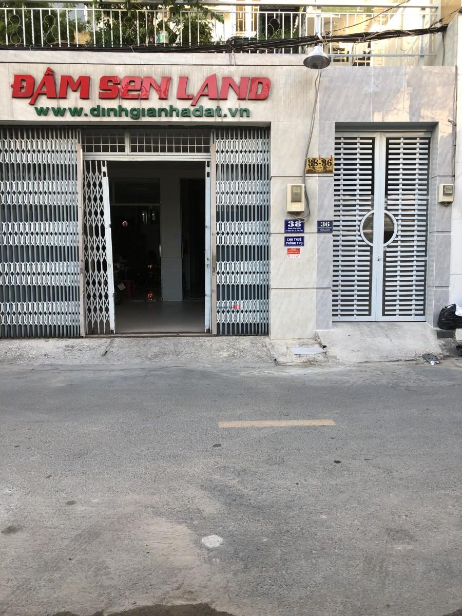 Mặt tiền quận Tân Phú giáp q11 giá 2,9tr nv bảo vệ 24/24, cáp TV, net đủ, Nlmt.
