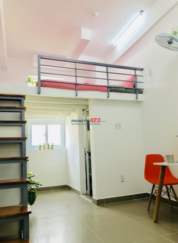 Phòng cho thuê có gác, mới xây, đầy đủ tiện nghi đường Ung Văn Khiêm, quận Bình Thạnh