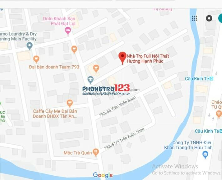 Phòng nội thất đầy đủ,vào ở liền,HXH,Giá 4,8tr,Giờ TD tại 793 Trần Xuân Soạn,sau CC Surise city,cạnh lotte Q7