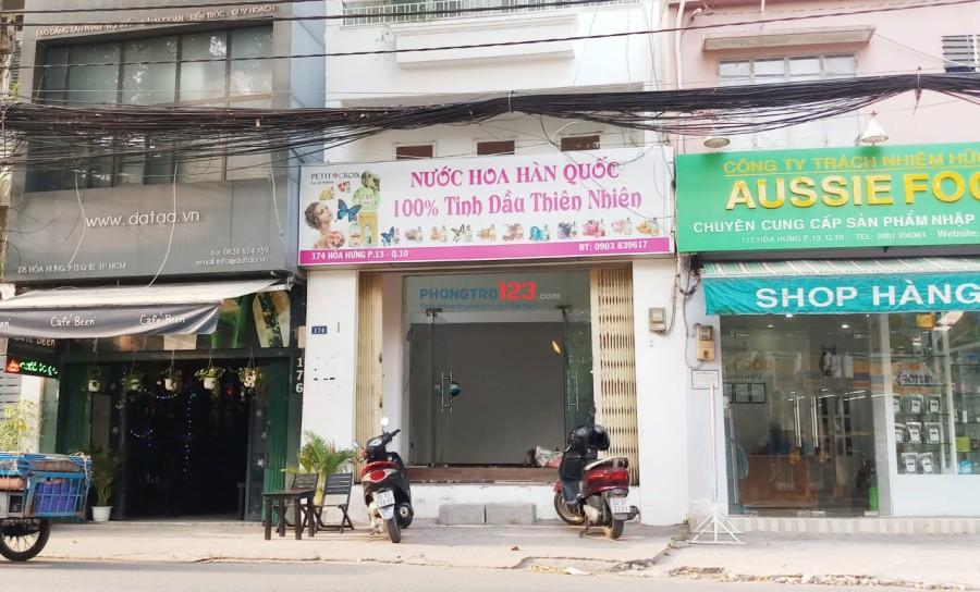 Cho thuê nhà mặt tiền 174 Hòa Hưng, Q.10 4x10 - 3L 150m2, giá 26.8Tr