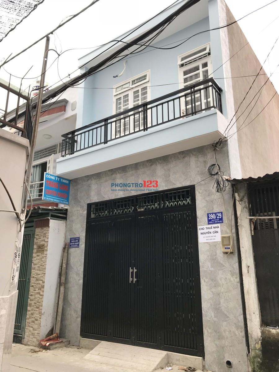 Cho thuê nhà nguyên căn khu vực Phường 15, Tân Bình