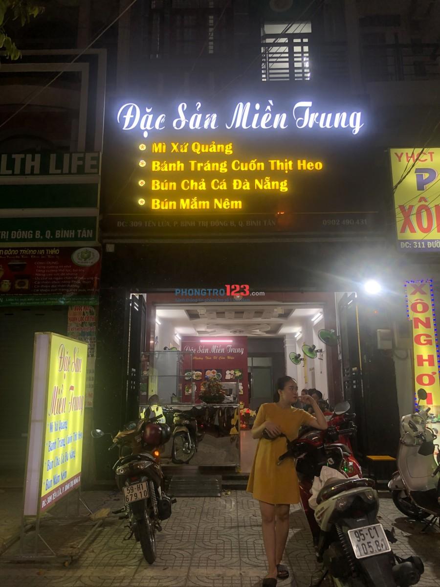 cho thuê phòng trọ quận Bình Tân (Khu Tên Lửa)