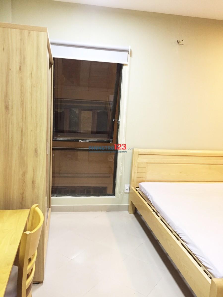 Căn hộ mini nội thất mới cực đẹp, 2 cửa sổ lớn ngay Vòng xoay Dân Chủ, Q.3